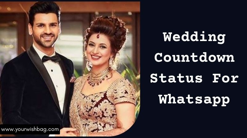 Wedding Countdown Status For Whatsapp