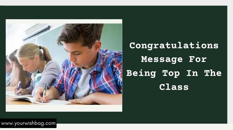 Congratulations Messages For Being Top In Class [2021]