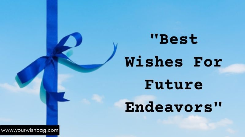 Best Wishes For Future Endeavors