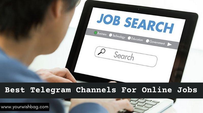 5 Best Telegram Channels For Online Jobs  [Top Picks]