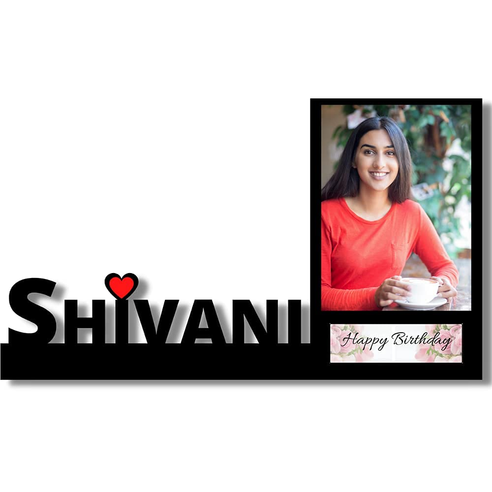 Customized Birthday Photo Frame With Name Sign